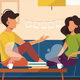 Guy and Girl Sitting on Couch at Home