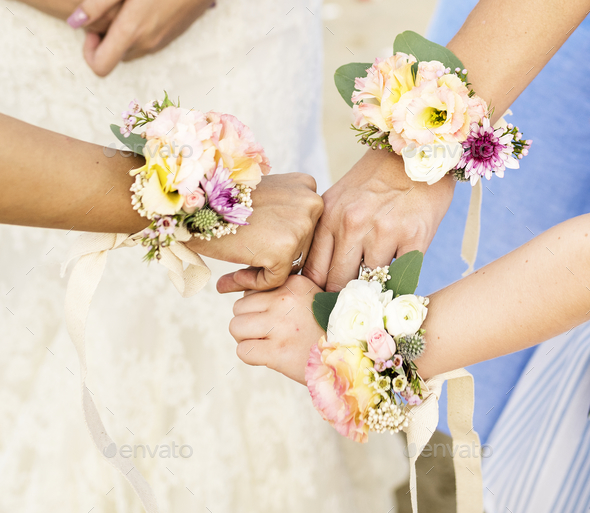 Bridesmaid corsages - Stock Photo - Images