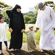 Muslim family having a good time outdoors - PhotoDune Item for Sale