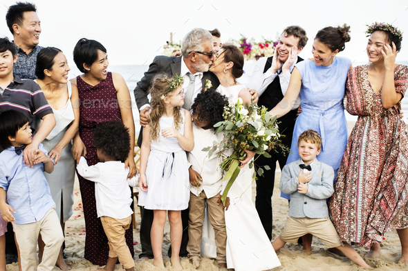 Senior couple's wedding - Stock Photo - Images