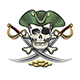 Hand Drawn Pirate Skull and Bones with Sabers - GraphicRiver Item for Sale