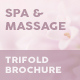 Spa and Massage Trifold Brochure - GraphicRiver Item for Sale