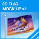 3d Flag Mockup - GraphicRiver Item for Sale