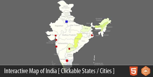 Interactive Map of India - CodeCanyon Item for Sale