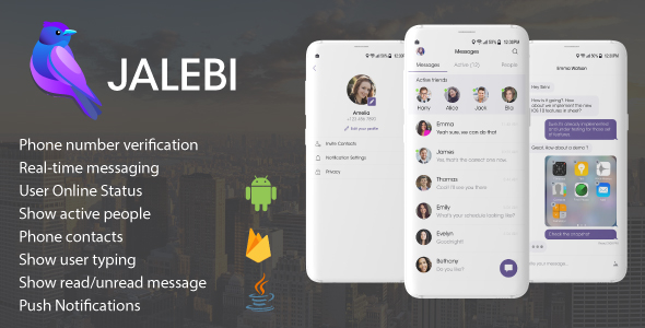 Jalebi - Android Firebase Real-time Chat Messenger - CodeCanyon Item for Sale