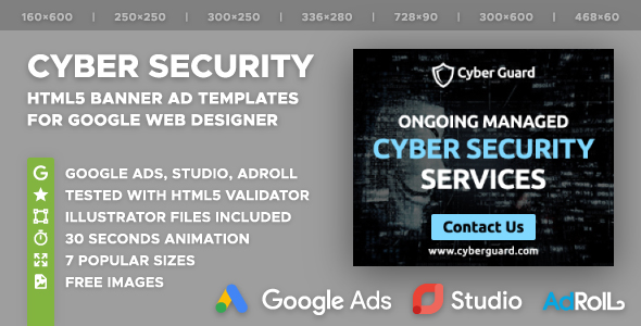Cyber Guard - Security Services HTML5 Banners (GWD) - CodeCanyon Item for Sale