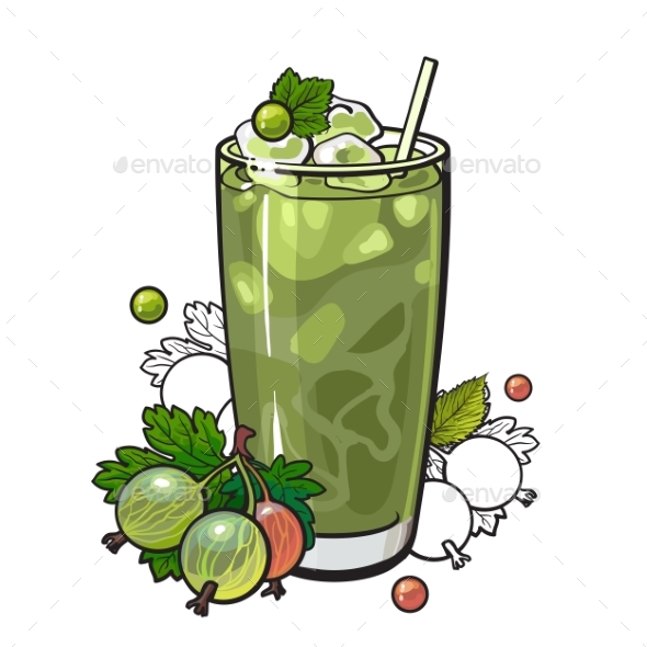 Gooseberry Smoothie - Food Objects