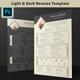Dark & Light Resume / CV Template