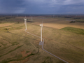Dramatic aerial view of wind turbines in Oklahoma, USA. - PhotoDune Item for Sale