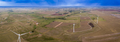 Aerial panorama of wind turbines and rain clouds in Oklahoma, US - PhotoDune Item for Sale