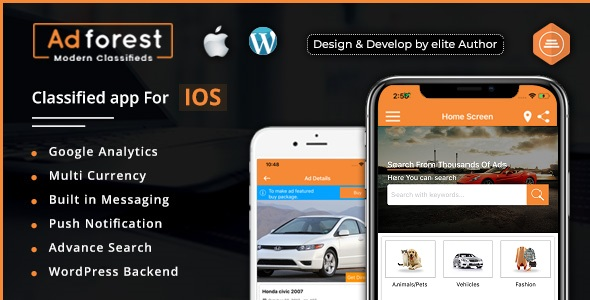 AdForest - Classified Native IOS App            Nulled