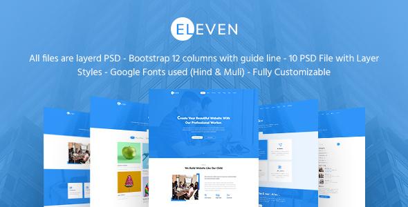 Eleven - Creative Agency & Multipurpose PSD Template