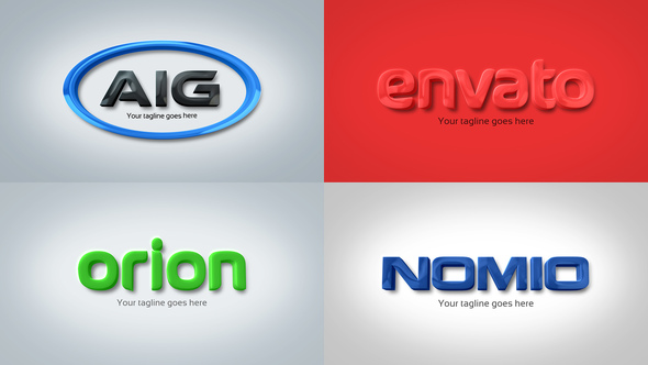 strong clean corporate 3d embossed logo by royalfx videohive