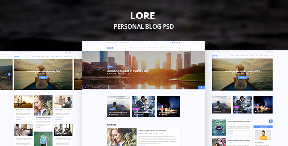 LORE Personal PSD Template