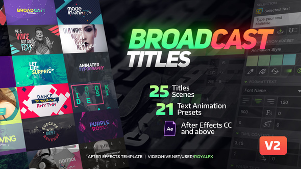 TypeX - Text Animation Tool | Broadcast Pack: Modern Colorful Typography Titles 20233979