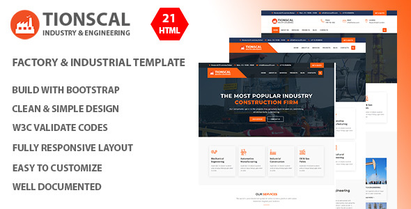 Tionscal - Industrial, Factory HTML Template - Business Corporate