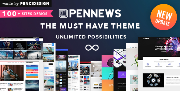PenNews - News/ Magazine/ Business/ Portfolio/ Landing AMP WordPress Theme