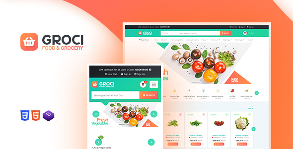 Groci - Organic Food and Grocery Market WordPress Theme
