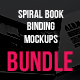 Spiral Book Binding Bundle Mockups