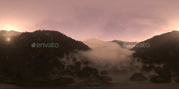 Evening Mountain Forest HDRI Sky - 3DOcean Item for Sale