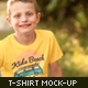 Boys T-shirt Mock-up - GraphicRiver Item for Sale