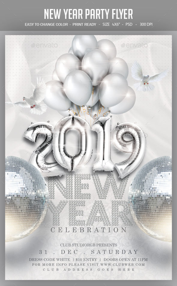 New Year Party Flyer by studiorgb | GraphicRiver