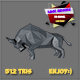 3d bull low poly basemeshes