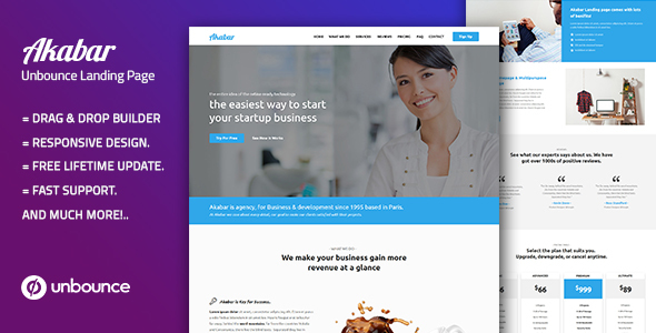 Akabar — Multi-Purpose Template with Unbounce Page Builder