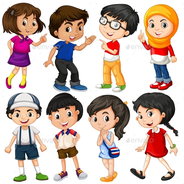 Different Characters of Boys and Girls - People Characters