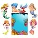 Underwater Scene With Lots of Mermaids