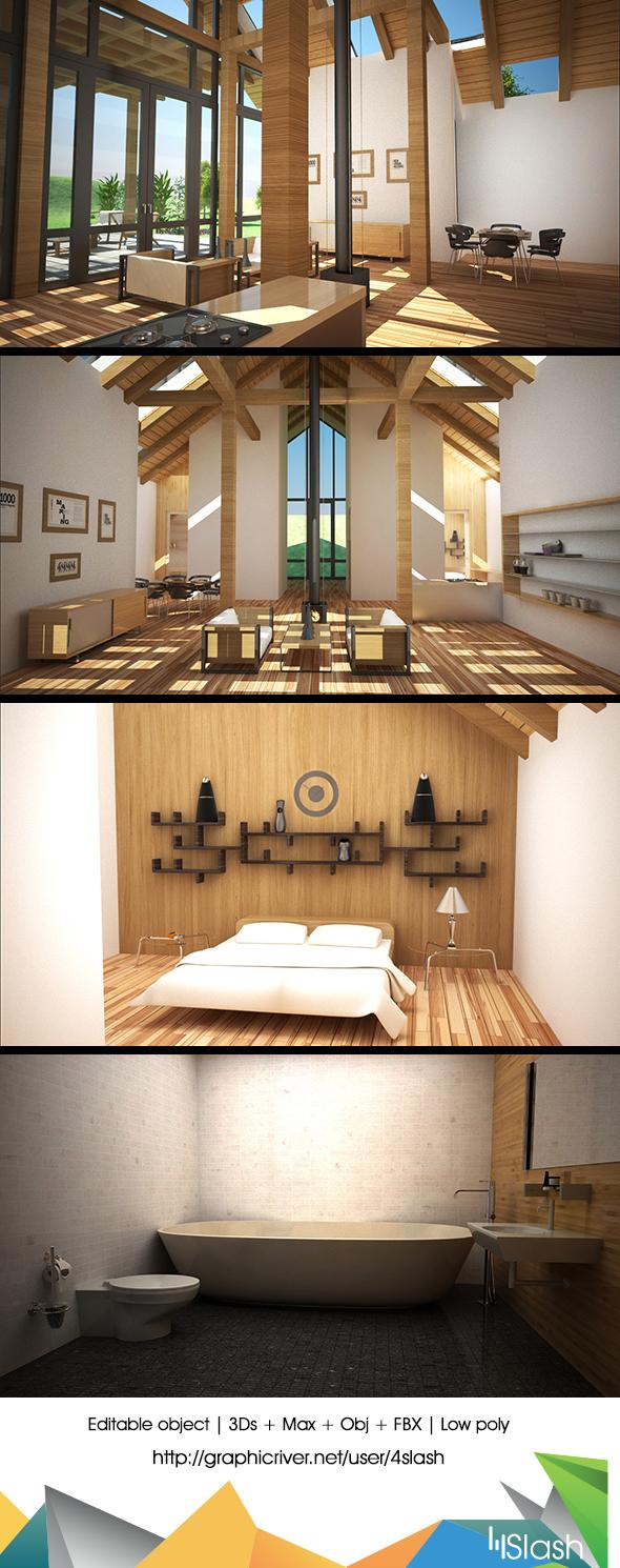 Elegant House Interior - 3DOcean Item for Sale