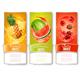 Set of Fruit Labels in Juice Splashes - GraphicRiver Item for Sale