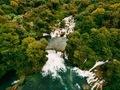 Aerial Photo of Krka waterfalls in the Krka National Park, Croatia. - PhotoDune Item for Sale