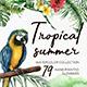 Tropical Summer. Watercolor