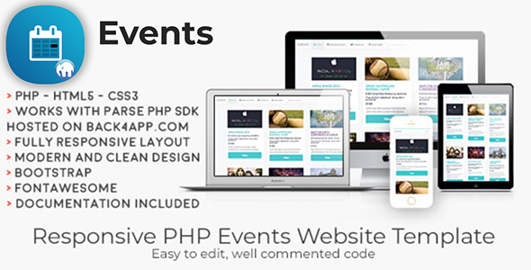 Events | PHP Event Sharing Web Template - CodeCanyon Item for Sale