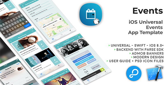 Events | iOS Universal Events App Template (Swift)