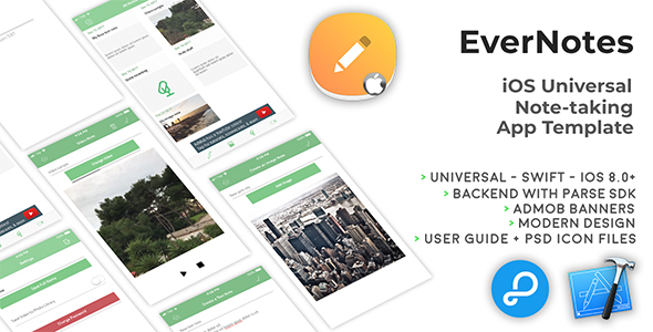 EverNotes | iOS Universal Notetaking App Template (Swift) - CodeCanyon Item for Sale
