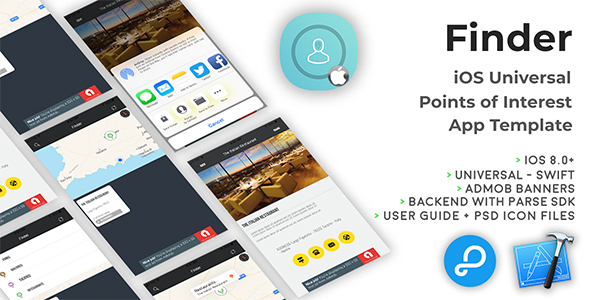 Finder | iOS Universal Points of Interest App (Swift) - CodeCanyon Item for Sale