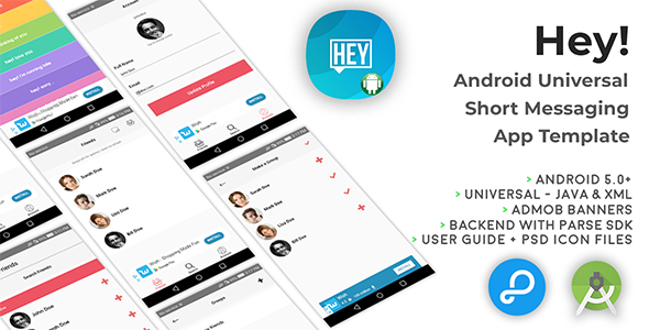 Hey! | Android Universal Short Messaging App Template - CodeCanyon Item for Sale