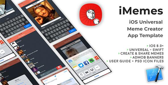 iMemes | iOS Universal Meme Creator App Template (Swift) - CodeCanyon Item for Sale