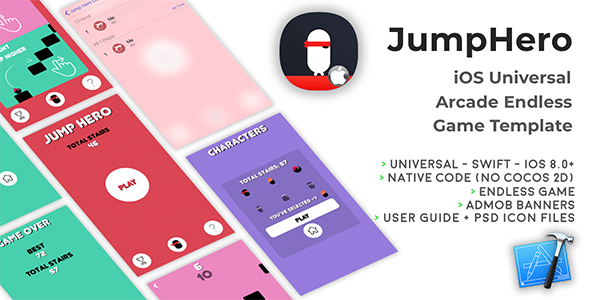 JumpHero | iOS Universal Game Template (Swift) - CodeCanyon Item for Sale