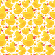 pattern with yellow rubber duck
