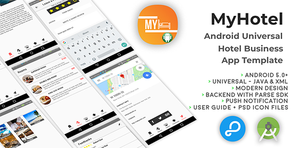 MyHotel | Android Universal Hotel App Template - CodeCanyon Item for Sale