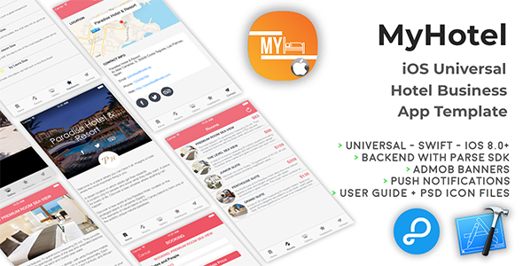 MyHotel | iOS Universal Hotel App Templates (Swift) - CodeCanyon Item for Sale