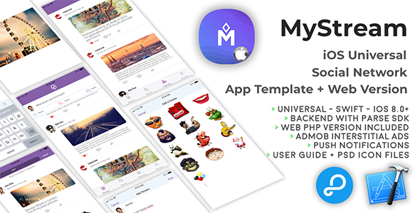 MyStream | iOS Universal Social Network App Template + Web PHP version - CodeCanyon Item for Sale
