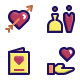 Wedding Filled Line Icons