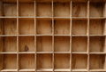 Empty wooden cabinet with cells - PhotoDune Item for Sale