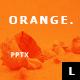 Orange MInimal Powerpoint - GraphicRiver Item for Sale
