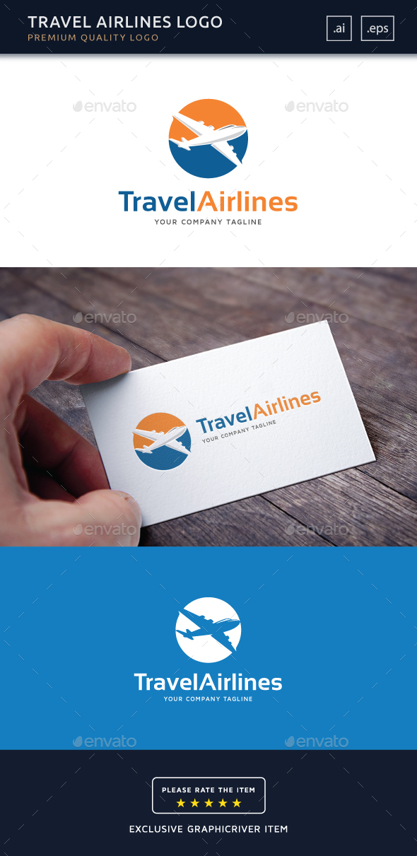 Travel Airlines Logo Template By Bivasdesign Graphicriver