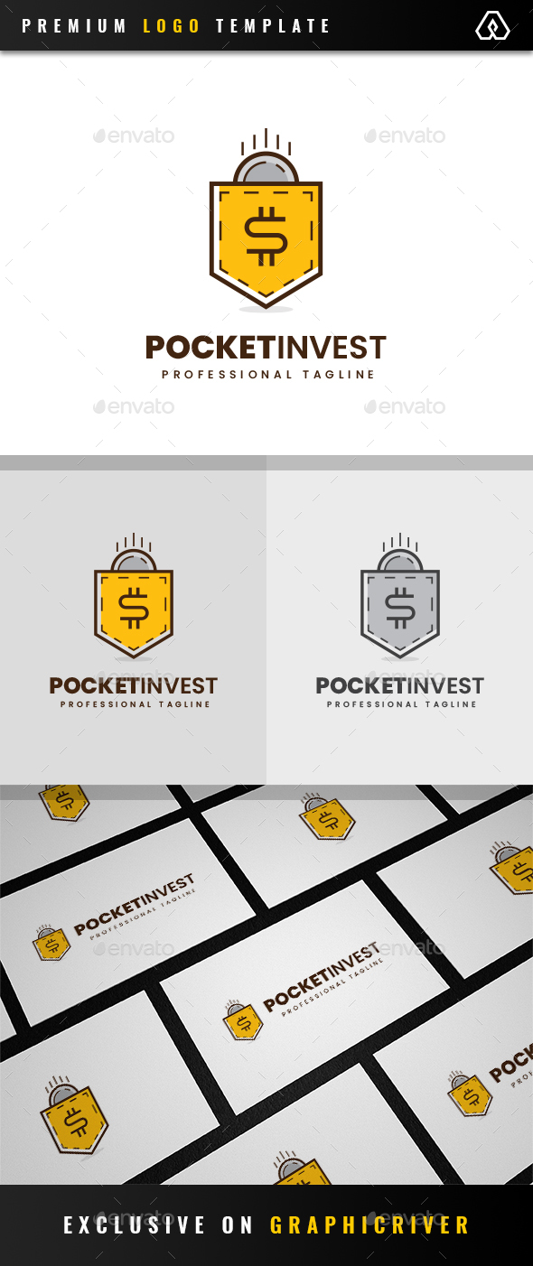 Pocket Invest Logo - Objects Logo Templates
